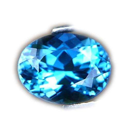 Lovemom 3.07ct Flawless Natural Oval London Blue Topaz Brazil #AB