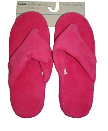 2dd272e27 Amazon.com   Terry Cloth Flip Flop Slippers (Pink) Size 10-11   Spa  Slippers   Beauty