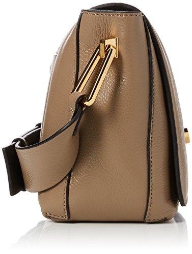 COCCINELLE Liya - Shoppers y bolsos de hombro Mujer Marrón (Taupe/noir)