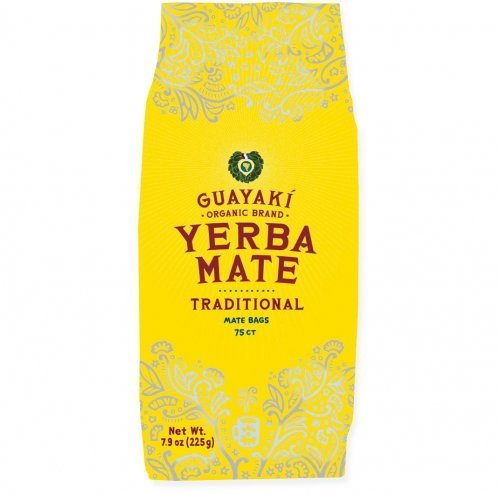 Guayaki Traditional Organic Mate Tea, 7.9 oz (225g), 75 Tea Bags by Guayaki