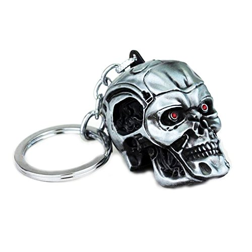 wotoy Skull Skeleton Head Keychain ( Ancient Tin )