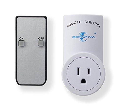 Wireless Remote Outlet Switch, Goronya Wireless Remote Control Electrical Outlet Switch Outlet Plug Switch with