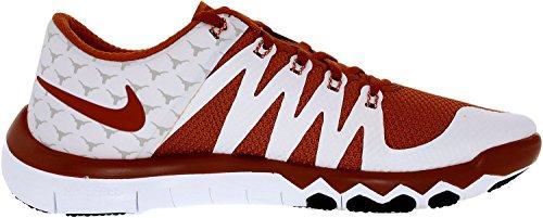 Zapatillas de tenis sinteticas para hombre, sin cordones, color tobillo-alto, Nike, para hombre, sin tac¨®n, 5.0 V6 Amp blanco / naranja des¨¦rtico / gris claro - 8M