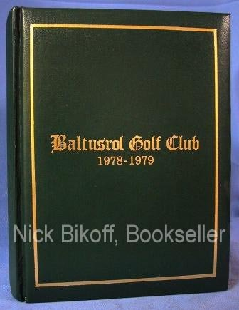 BALTUSROL GOLF CLUB CONSTITUTION AND BY-LAWS Revised October 16, 1976