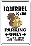 SQUIRREL LOVERS Parking Sticker gag novelty gift funny hunter rodent park animal