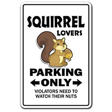 SQUIRREL LOVERS Parking Sticker gag novelty gift funny hunter rodent park animal