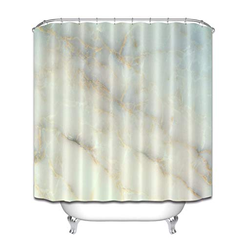 - youyoutang Bathroom Polyester Waterproof Fabric Shower Curtain Set White Marble Background 3D High-Definition Printing Does Not Fade 12 Shower Hooks 70.8X70.8 Inch Home Decor Bathroom Accessories