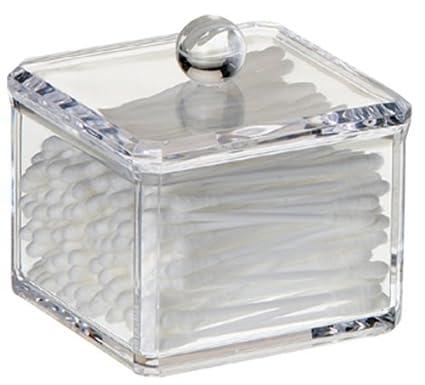 Merveilleux LilGift Acrylic Cotton Ball Holder, Storage Cotton Balls, Bathroom Storage,  Makeup Organizer,