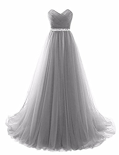 G¨¹rtel mit Abendkleid Abendkleider rmellos Silber Love King's T¨¹ll Party Aa7IqZywP