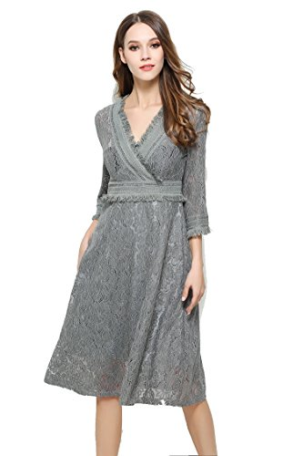 Jollychic - Vestido - trapecio - para mujer gris