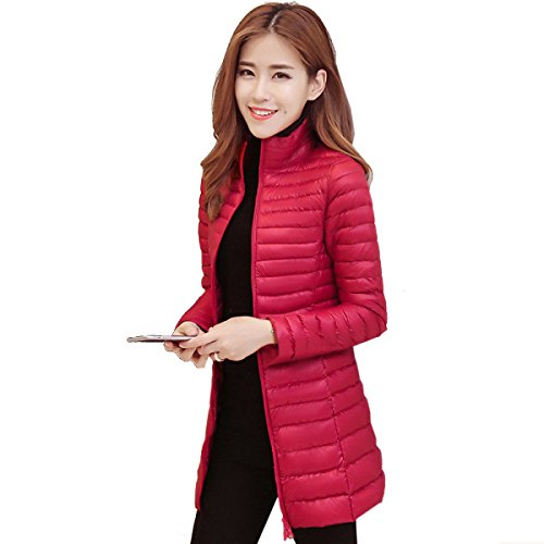 Female Was Thin Section Long Coat Outwear Self Temperament Leisure A Cold Eiderdown Thin Down nihiug Down Jacket cultivation Personality qCSwn06