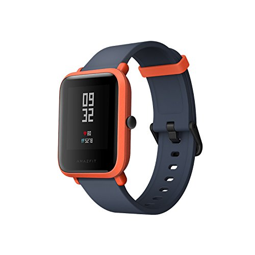 Amazfit Bip Youth Smart Watch Xiaomi Huami GPS Real-time Heart Rate Monitor Bluetooth Sports Smart Watch [32g Ultra Light] [IP68 Water-Resistant] [45-Days Standby] English Version (Cinnabar Red)