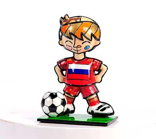 Player Football Figurine - Romero Britto Russia Mini Soccer Player Figurine
