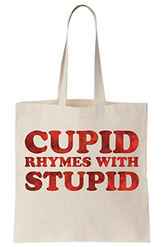 Tote Bag Cupid With Stupid Canvas Rhymes w1zHx1T6qA