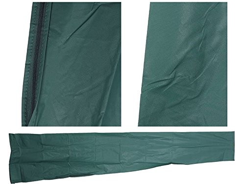 JTW Outdoor Patio waterproof Beach Umbrella Cover protection Fit 6ft to 11ft fast abd Easy Zipping or Unzipping Protects against Sun, Rain, Snow and Dirt year round Olive Green color by JTW