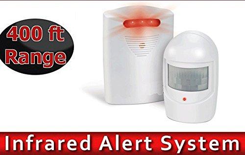 Alarm Garage Motion Sensor Infrared Wireless Alert Secure - Powerd Battery Cameras