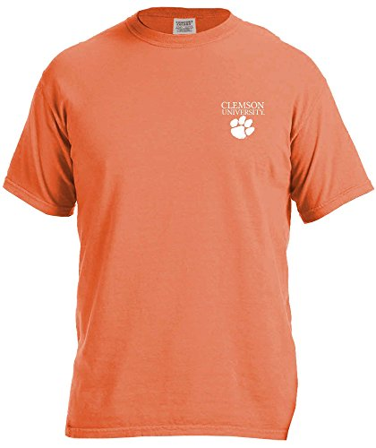 Burnt Tiger (NCAA Clemson Tigers Simple Circle Comfort Color Short Sleeve T-Shirt, Burnt Orange,X-Large)