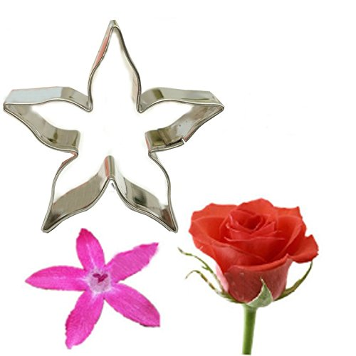 DIY Baking Tool Stainless Steel Cookie Cutter Rose Flower Calyx Serrate Leaves Biscuit Fondant Cake Mould Icing Mold