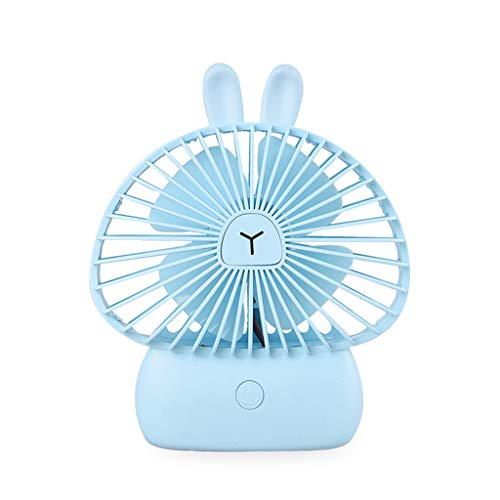 leidersty Mini Portable Bunny Handheld Fan USB Charging Cooling Electric Fan with Lights for Home Office Desktop Outdoor Accessories