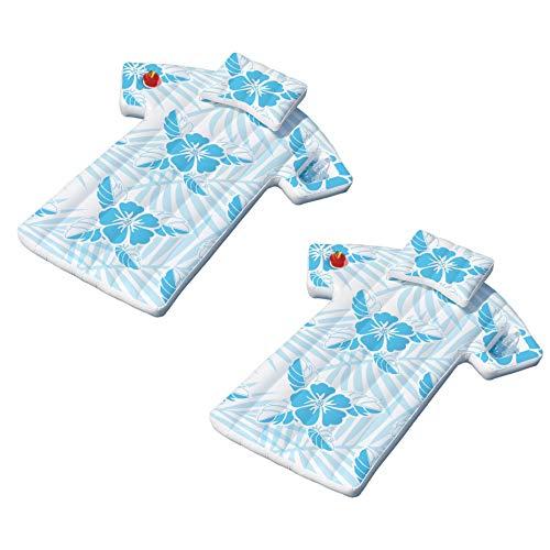 Swimline Inflatable Swimming Pool Hawaiian Cabana Shirt Float Lounger (2 Pack)