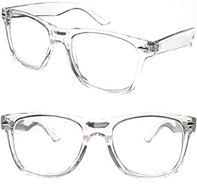 White Clear Reading Glasses - Comfortable Stylish Simple Readers Rx Magnification