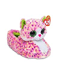 TY Beanie Boos Kids Girls Big Head Animal Toy Non Skid Plush Slippers (See More Designs Colors and Sizes)