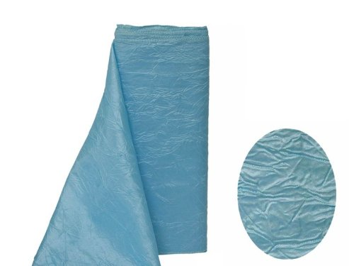 (BalsaCircle 54-Inch x 10 Yards Light Blue Crinkled Taffeta Fabric by The Bolt - Sewing Craft Wedding Favors)