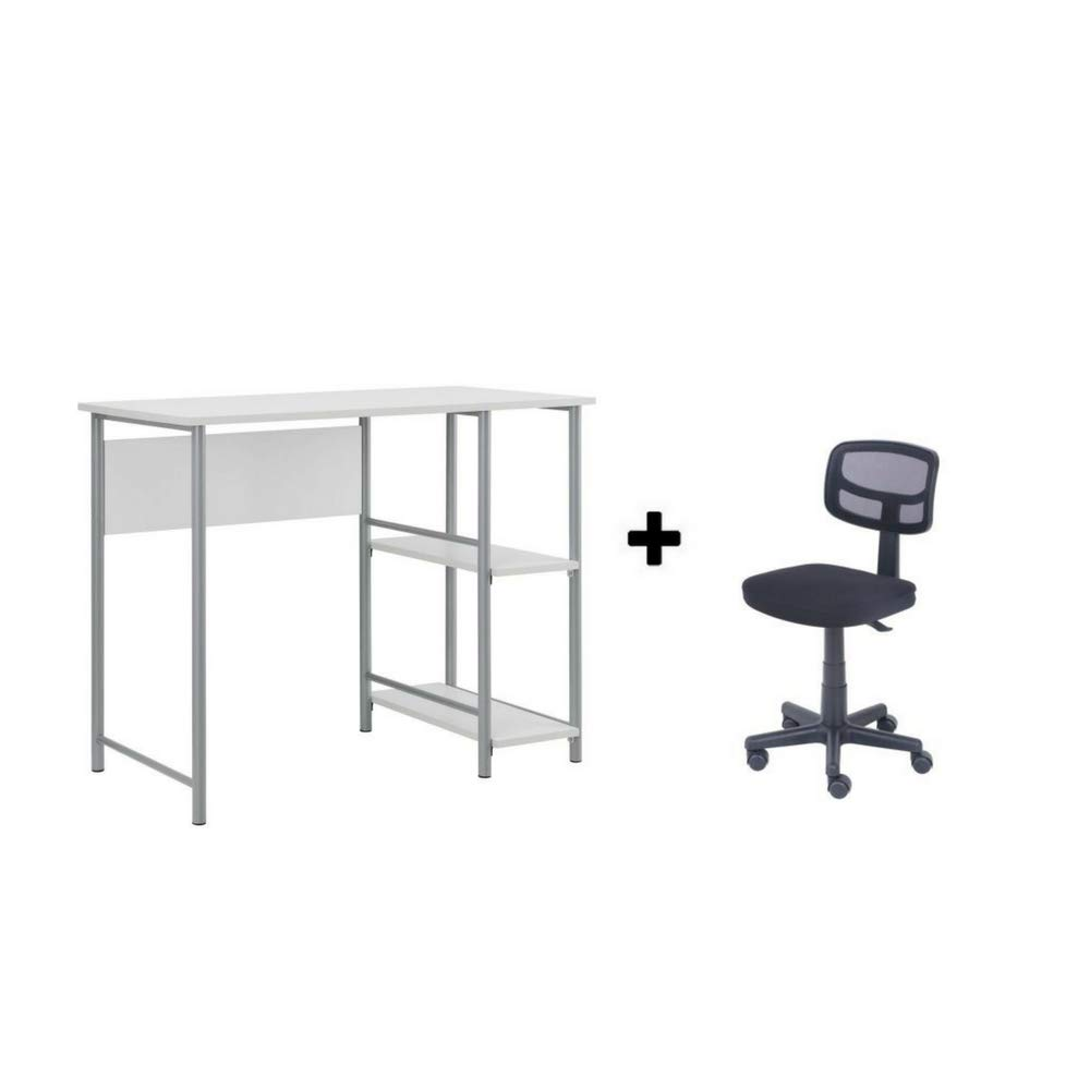 Mainstays Basic Student Desk.Model: 9120596W (White Student Chair)