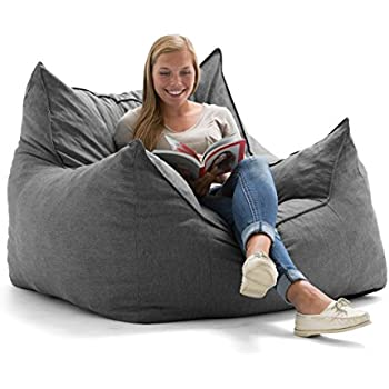 Amazon Com Big Joe King Fuf Foam Filled Bean Bag Chair