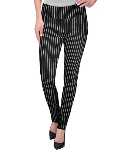 School Pants Trousers - Super Comfy Stretch Pull On Millenium Pants KP44972 10909 Black/Whit M