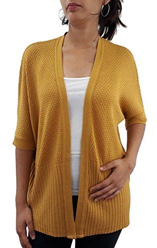 c368921dbce7 Serendipity Women s Short Sleeve Honeycomb Stitch Dolman Open ...