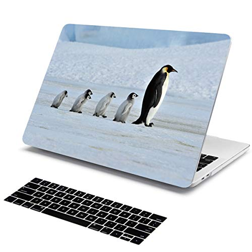 MacBook Pro Retina 13 Case Batianda Animal Series Pattern Hard Shell with Silicone Keyboard Cover for MacBook Pro 13.3 inch Model:A1425/A1502 2012-2015 Version (Penguin)