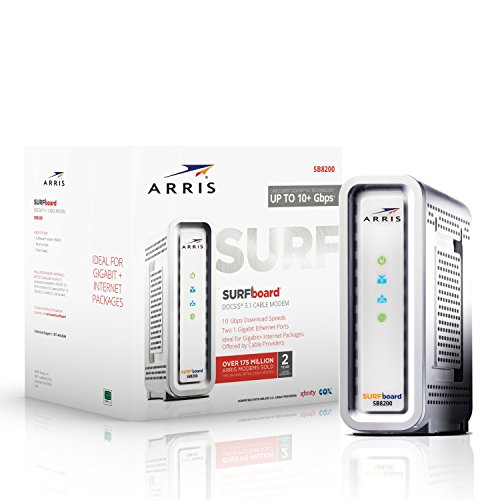 Review Next-Generation ARRIS SURFboard SB8200 DOCSIS 3.1 Cable Modem - Retail Packaging- White