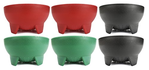 Set of 6 Black Duck Brand 4.5 Diameter Salsa Bowls! Red, Green, Black Salsa Bowls Perfect for Parties, Events, and More!
