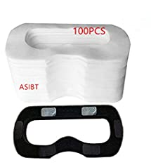 ASIBT 100 Pcs HTC VIVE Disposable Face Cover Mask with 1 pcs Sponge Mat and Magic Sticks for HTC Vive Virtual Reality Headset VR - Prevent Eye Infections