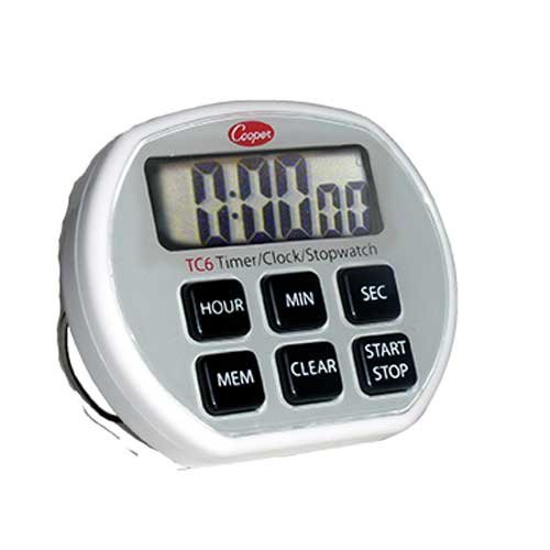 Cooper Atkins 6 Button Electronic Timer Clock Stopwatch -- 36 per case.