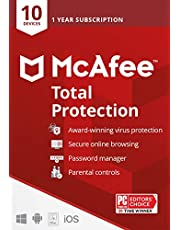 $34 » McAfee Total Protection 2021, 10 Device, Antivirus Internet Security Software, Password Manager, Parental Control, Privacy, 1 Year - Key Card