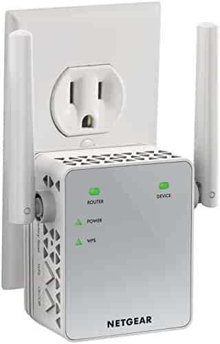 NETGEAR Wi-Fi Range Extender EX3700 - Coverage up to 1000 sq.ft. and 15 devices with AC750 Dual Band Wireless Signal Booster & Repeater (up to 750Mbps speed), and Compact Wall Plug Design