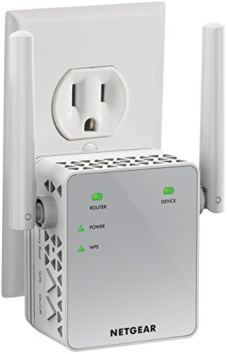 NETGEAR Wi-Fi Range Extender EX3700 - Coverage up to 1000 sq.ft. and 15 devices with AC750 Dual Band Wireless Signal Booster & Repeater (up to 750Mbps speed), and Compact Wall Plug Design ()