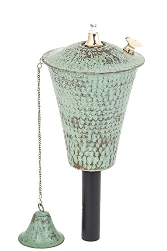 Legends Kona Outdoor Garden Torch with Pole and Matching Snuffer (Hammered Patina)