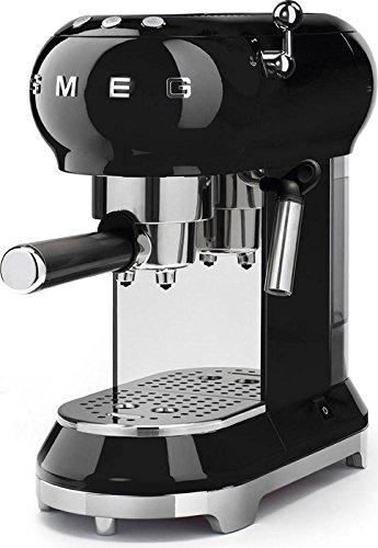 Chrome Espresso Makers Automatic Coffee (Smeg Espresso Machine Black ECF01 BLUS)