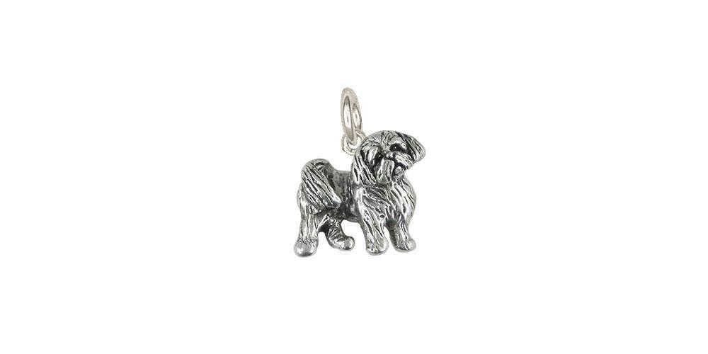 Shih Tzu Jewelry Sterling Silver Handmade Shih Tzu Charm SZ21R-C