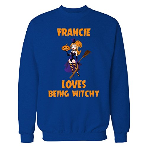 (Francie Loves Being Witchy Halloween Gift - Sweatshirt Royal L)
