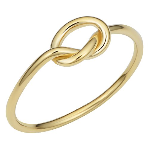 Kooljewelry 14k Yellow Gold Love Knot Ring (size - Knot Gold Love Ring 14k