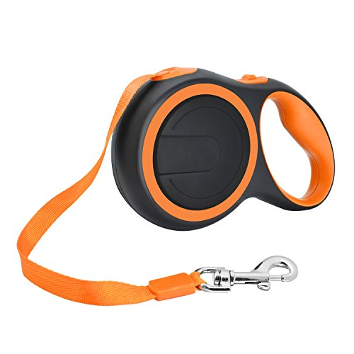Retractable Dog Leash,16 FT Strong Pet Dog Walking Leash for Small Medium Dogs up to 44 lbs Pet Dog Seat Belt Leash Adjustable Tangle Free One Button Break and (Lock Reel Seat)