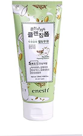 Korea Cosmetic Enesti Korean Natural Hot Spring Water Suanbo Suansu Onsen Sui Made Rice Milk Cleansing Foam 4oz 120ml