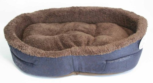 New Small Dog or Cat Pet Bed – Plush Beds w Pillow for Small 15-20 lbs pets, My Pet Supplies