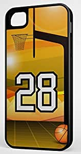 iphone covers Basketball Sports Fan Player Number 28 Black Rubber Hybrid Tough Case Decorative Iphone 6 4.7 Case