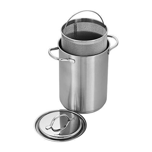Demeyere 8016 RESTO Stainless Steel Asparagus/Pasta Cooker Set, 4.7-Quart, Silver ()