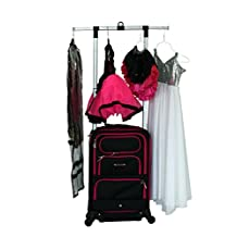 The Dance Angel Suitcase Carry-On Black with Hot Pink Trim